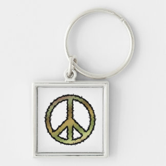 Camo Peace Sign Keychain