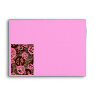Camo/Peace Signs Pink Envelope