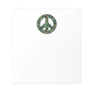 Camo Peace Symbol Notepad