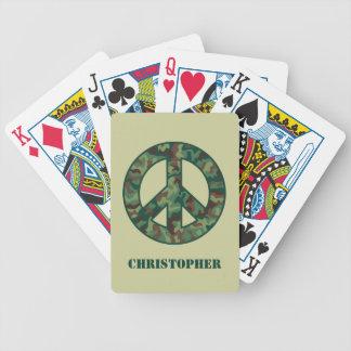 Camo Peace Symbol Deck Of Cards