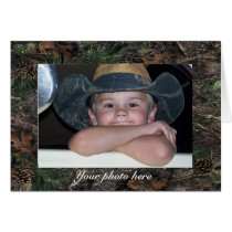 Camo Photo Greeting Card