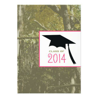 Camo & Pink Class of 2014 Graduation Invitation
