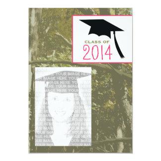 Camo & Pink Class of 2014 Photo Graduation Invite