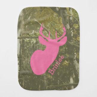 Camo + Pink Deer Burp Cloth