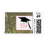 Camo & Pink & Graduation Cap Class of 2014 Postage Stamp