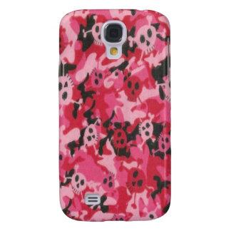 Camo Pink Red Skulls 3G/3GS Samsung Galaxy S4 Case