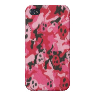 Camo Pink Red Skulls Speck Case iPhone 4
