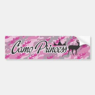 Camo Princess Car Bumper Sticker
