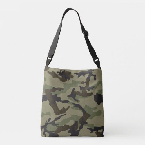 camo print cross body bag