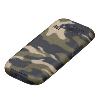Camo Print Fabric Pattern in Jungle Army Green Galaxy S3 Covers