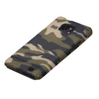 Camo Print Fabric Pattern in Jungle Army Green Galaxy S2 Cover