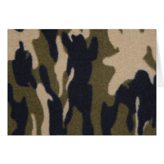 Camo Print Jungle Green/Black for Hunters Card