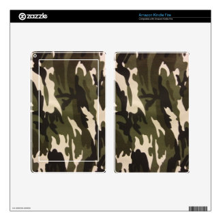 Camo Print Kindle Fire Decals