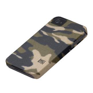 Camo Print Pattern in Jungle Army Green Blackberry iPhone 4 Case