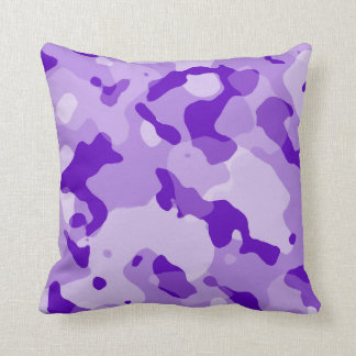 Camo púrpura Amethyst; Camuflaje Cojín Decorativo