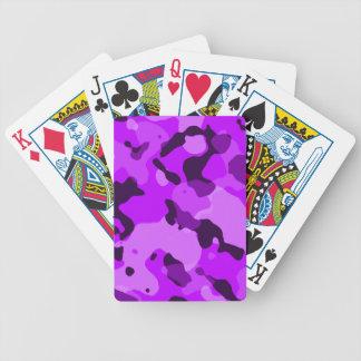 Camo púrpura eléctrico; Camuflaje Cartas De Juego