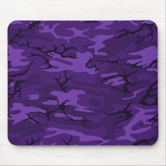 Camo púrpura oscuro alfombrilla de ratón