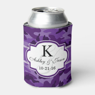Camo púrpura violeta, boda del camuflaje enfriador de latas