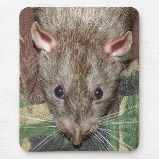 camo rat mouse pad