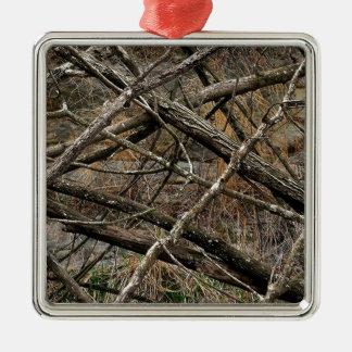 Camo real personalizado/camuflaje (personalizable) ornaments para arbol de navidad