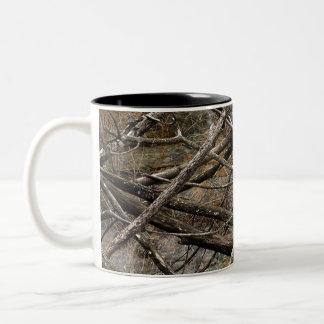 Camo real personalizado/camuflaje (personalizable) taza de dos tonos