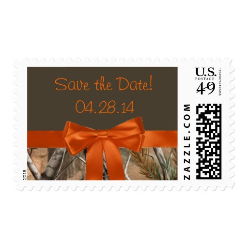 Camo Ribbon Save the Date Stamps