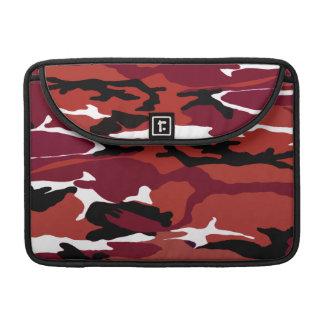 Camo rojo fundas para macbook pro