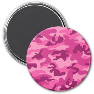 Camo rosado brillante lindo, camuflaje imán para frigorifico