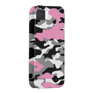 Camo rosado - caja de la casamata del iPhone 4 iPhone 4/4S Carcasa