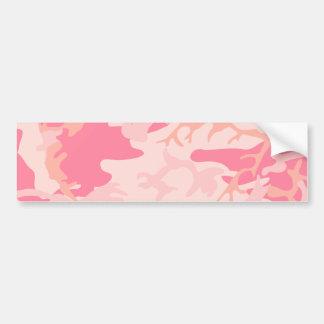 Camo rosado - Camo femenino Etiqueta De Parachoque