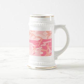 Camo rosado - Camo femenino Jarra De Cerveza