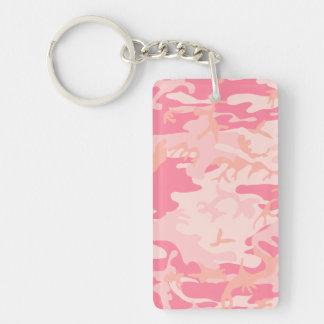 Camo rosado - Camo femenino Llavero Rectangular Acrílico A Una Cara