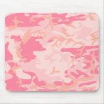 Camo rosado - Camo femenino Tapetes De Ratones