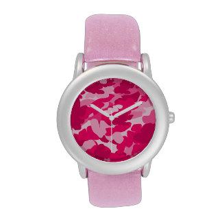 camo rosado, camuflaje reloj