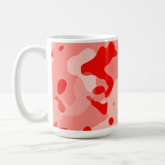 Camo rosado coralino; Camuflaje Tazas De Café