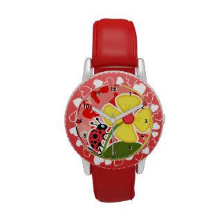 Camo rosado coralino; Mariquita Reloj