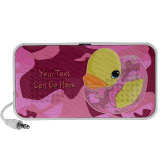 Camo rosado Ducky Altavoces