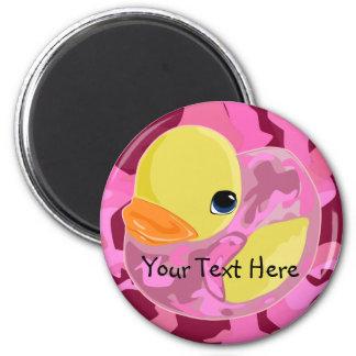 Camo rosado Ducky Imanes Para Frigoríficos