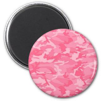 Camo rosado imanes para frigoríficos