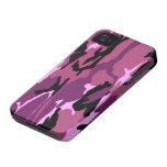 Camo rosado iPhone 4 Case-Mate protectores