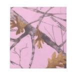 Camo rosado libretas para notas