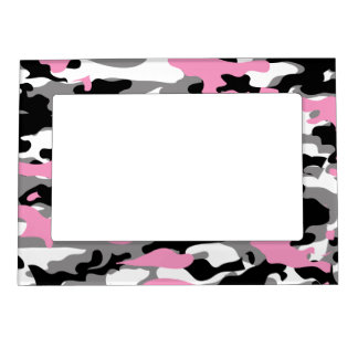 Camo rosado marcos magneticos