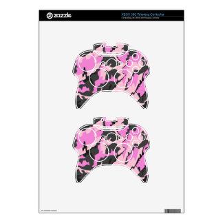 Camo rosado, pieles inalámbricas del regulador de mando xbox 360 calcomanía