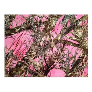Camo rosado - regalos del camuflaje - tarjeta postal