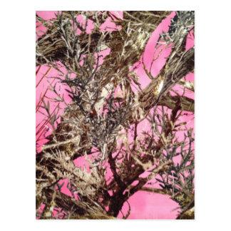 Camo rosado - regalos del camuflaje - tarjetas postales
