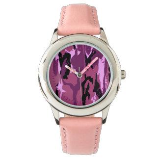 Camo rosado relojes de mano