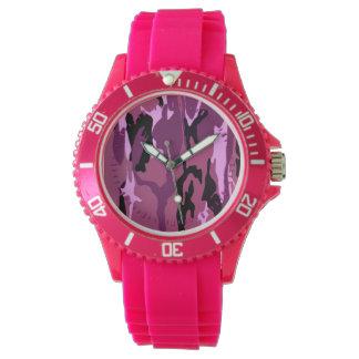 Camo rosado relojes de pulsera
