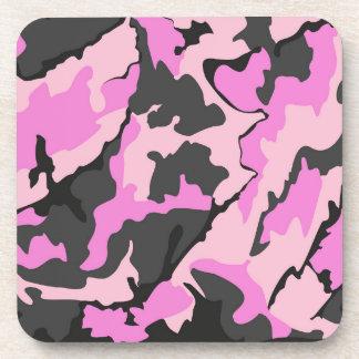 Camo rosado, sistema plástico de la parte posavaso
