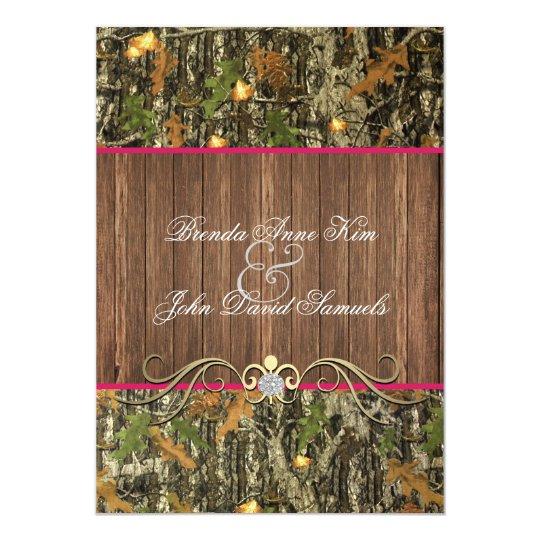 Camo Wedding Ideas Rustic Barn: Camo Rustic Wedding Invitation