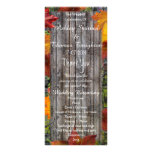 Camo Rustic Wood Fall Leaves Wedding Programs Rack Card Template